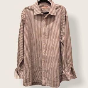 "Thomas Pink striped long sleeve dress shirt 18.5"""